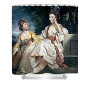 Mrs Thrale And Her Daughter Hester Shower Curtain by Sir Joshua Reynolds