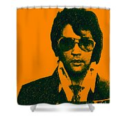 Mugshot Elvis Presley Shower Curtain by Wingsdomain Art and Photography