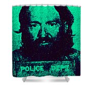 Mugshot Willie Nelson P28 Shower Curtain by Wingsdomain Art and Photography