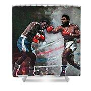 Muhammad Ali And Joe Frazier Shower Curtain by Ylli Haruni