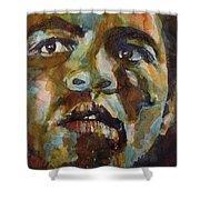 Muhammad Ali   Shower Curtain by Paul Lovering
