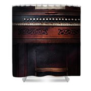 Music - Organist - Do Not Mortgage The Farm Shower Curtain by Mike Savad