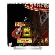 Music City Nashville Shower Curtain by Susanne Van Hulst