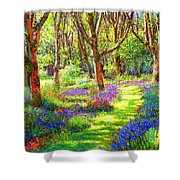 Music of Light Shower Curtain by Jane Small