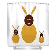 Mustard Bunnies Shower Curtain by Frank Tschakert