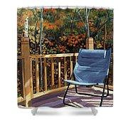 My Favorite Spot Shower Curtain by Lynne Reichhart