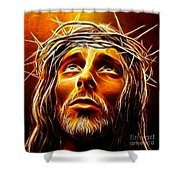 My God  Why Have You Abandoned Me Shower Curtain by Pamela Johnson