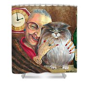 My Jewels Shower Curtain by Shelly Wilkerson