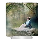 Mystic Contemplation Shower Curtain by Mary Hood