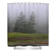 Mystical Acadia National Park Shower Curtain by Juergen Roth