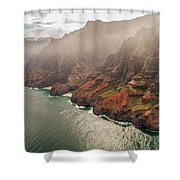 Na Pali Coast 4 - Kauai Hawaii Shower Curtain by Brian Harig