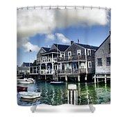 Nantucket Harbor In Summer Shower Curtain by Tammy Wetzel