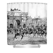 Napoleon Reviewing His Troops Shower Curtain by War Is Hell Store