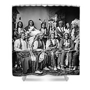 Native American Delegation, 1877 Shower Curtain by Granger