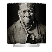 Native American Taos Indian White Clay Shower Curtain by The  Vault - Jennifer Rondinelli Reilly