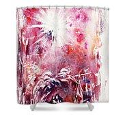 Nativity 5 Shower Curtain by Rachel Christine Nowicki