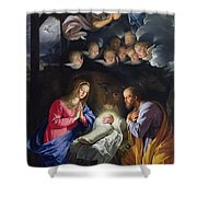 Nativity Shower Curtain by Philippe de Champaigne