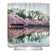 Nature Heals Shower Curtain by Mitch Cat