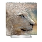 Nature's King Portrait Shower Curtain by Carol Cavalaris