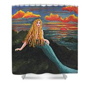 Neptune's Folly Shower Curtain by Patricia Griffin Brett