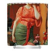 Nerissa Shower Curtain by John William Godward
