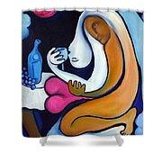Never Tear Us Apart Shower Curtain by Valerie Vescovi