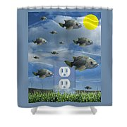 New Energy Shower Curtain by Keith Dillon