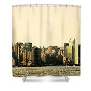 New York City Skyline Panorama Shower Curtain by Vivienne Gucwa