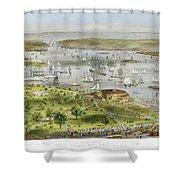 New York Harbor, 1872 Shower Curtain by Granger