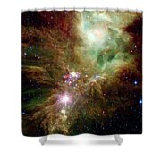 Newborn Stars In The Christmas Tree Shower Curtain by Stocktrek Images