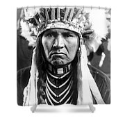 Nez Perce Native American Shower Curtain by Granger