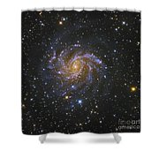 Ngc 6946, Also Known As The Fireworks Shower Curtain by Robert Gendler