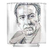 Nicolas Cage Shower Curtain by Murphy Elliott