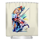 Nigel Kennedy Shower Curtain by Melanie D