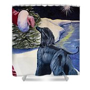 Night Before Xmas Shower Curtain by Terry  Chacon