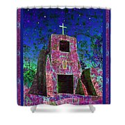 Night Magic San Miguel Mission Shower Curtain by Kurt Van Wagner