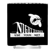 Night Raider Ww2 Malaria Poster Shower Curtain by War Is Hell Store