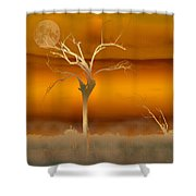 Night Shades Shower Curtain by Holly Kempe