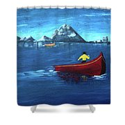 No Paddle Shower Curtain by Donna Blackhall