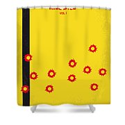 No048 My Kill Bill -part 1 Minimal Movie Poster Shower Curtain by Chungkong Art