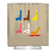 No069 My Reservoir Dogs minimal movie poster Shower Curtain by Chungkong Art