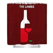 No078 My Silence Of The Lamb Minimal Movie Poster Shower Curtain by Chungkong Art