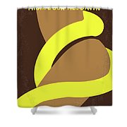 No127 My From Dusk This Dawn Minimal Movie Poster Shower Curtain by Chungkong Art