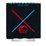 No155 My Star Wars Episode V The Empire Strikes Back Minimal Movie Poster Shower Curtain by Chungkong Art