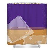 No180 My Leaving Las Vegas Minimal Movie Poster Shower Curtain by Chungkong Art