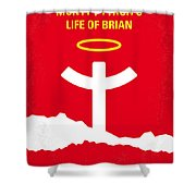 No182 My Monty Python Life Of Brian Minimal Movie Poster Shower Curtain by Chungkong Art