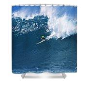 Noah At Waimea Shower Curtain by Vince Cavataio - Printscapes