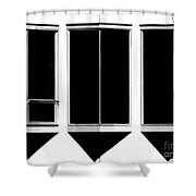 None More Black Shower Curtain by CML Brown