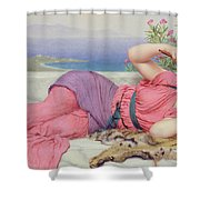 Noon Day Rest Shower Curtain by John William Godward