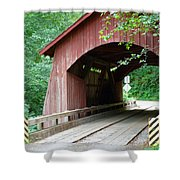 North Fork Yachats Bridge 2 Shower Curtain by Methune Hively